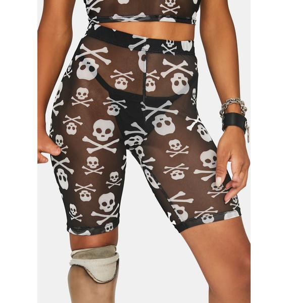 Skull Crusher Biker Shorts