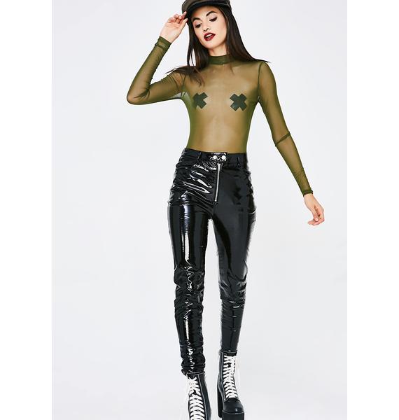 Jade Party Season Mesh Bodysuit