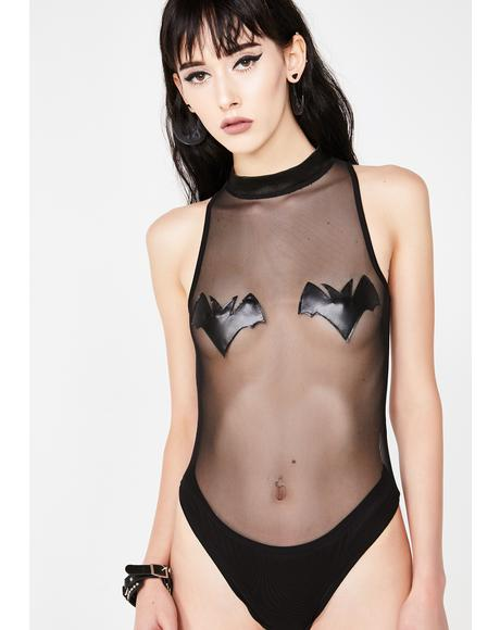 Gone Batty Sheer Bodysuit