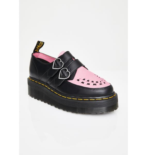 Dr. Martens X Miss Lazy Oaf Low Buckle Creepers