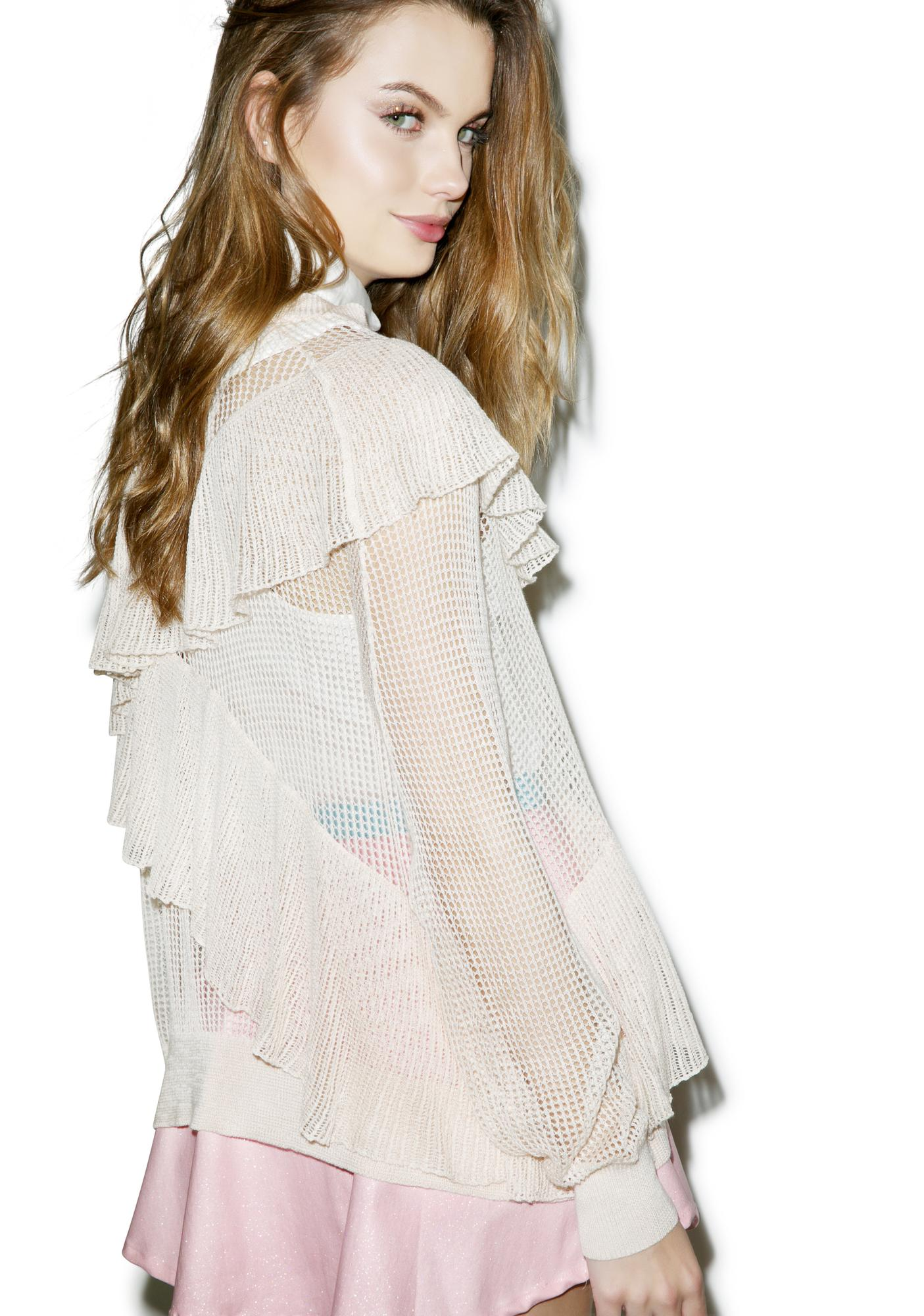 Wildfox Couture Just Frilled Sweater