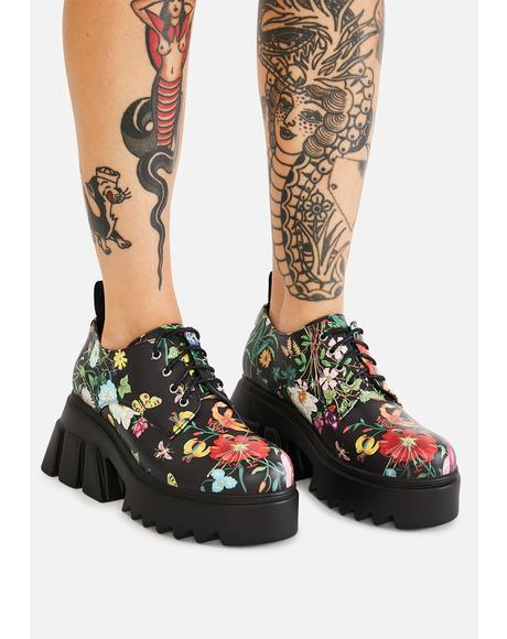Watch Me Bloom Platform Oxfords