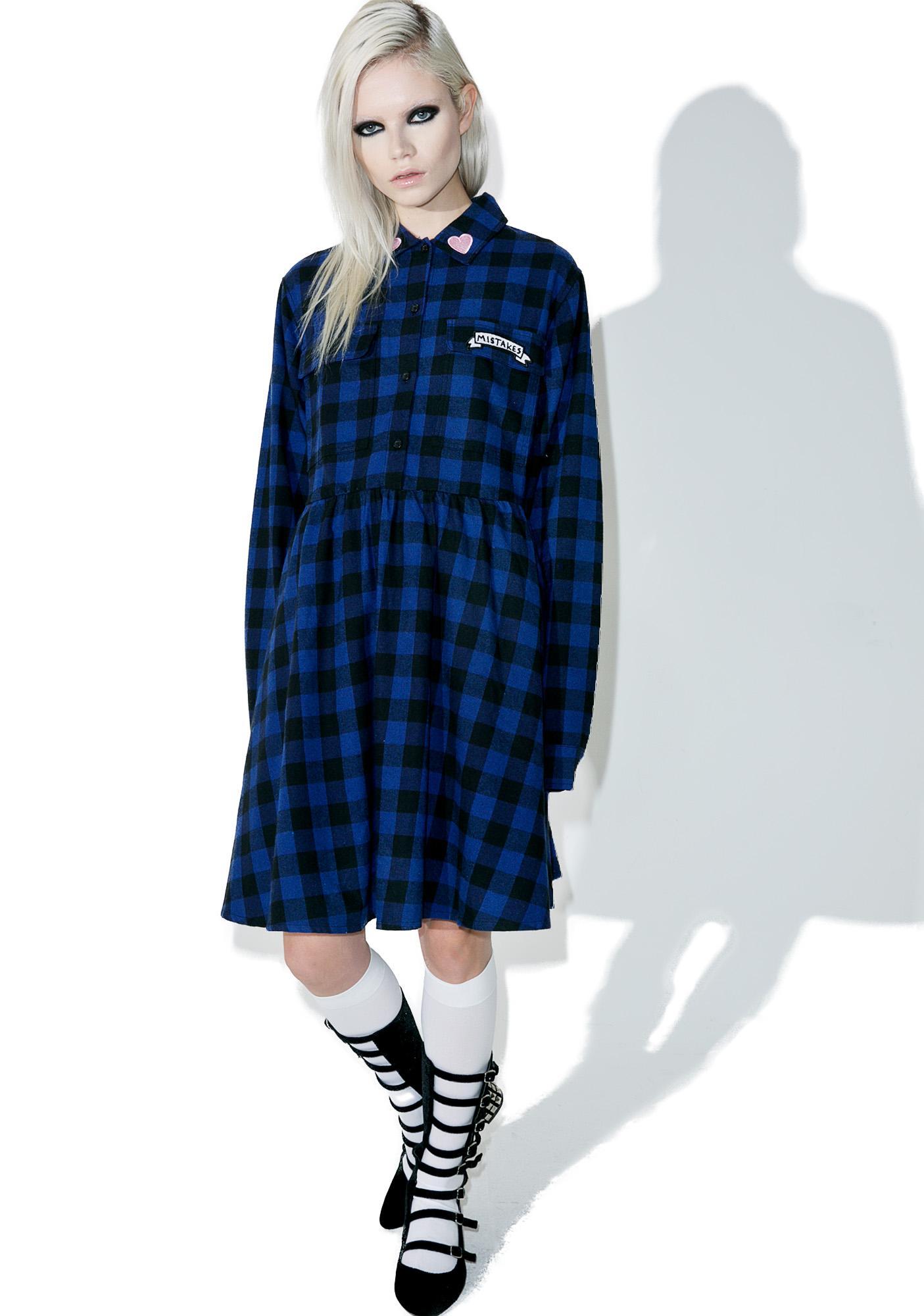 Lazy Oaf Mistakes Flannel Dress