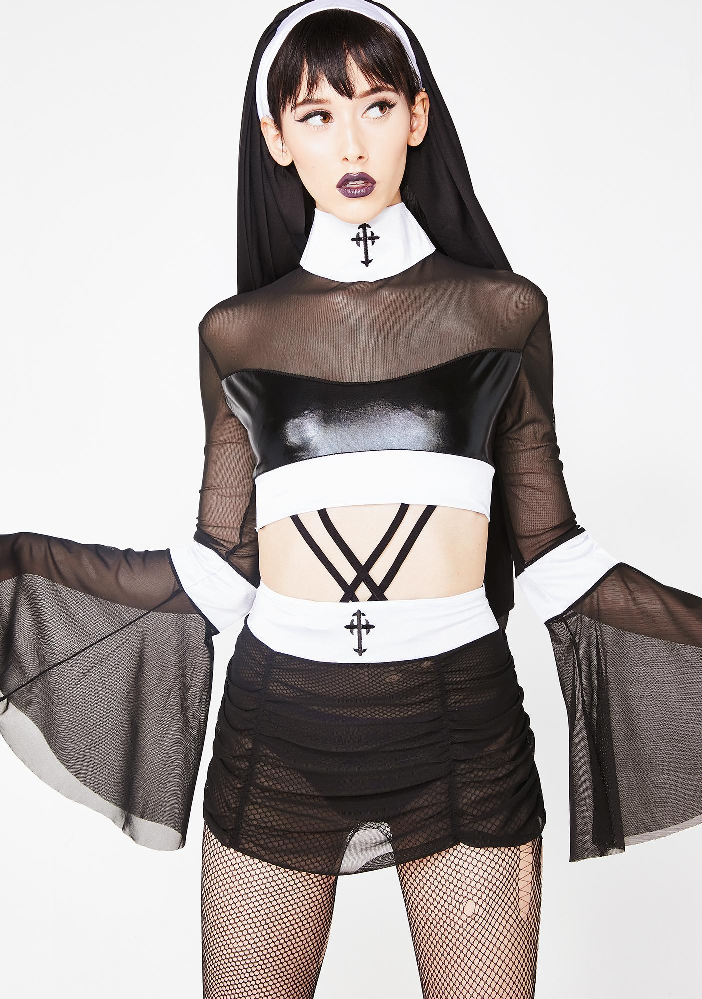 Depraved Naughty Nun Costume