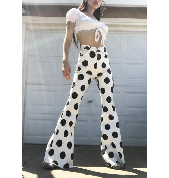 Swing Of Things Polka Dot Flares