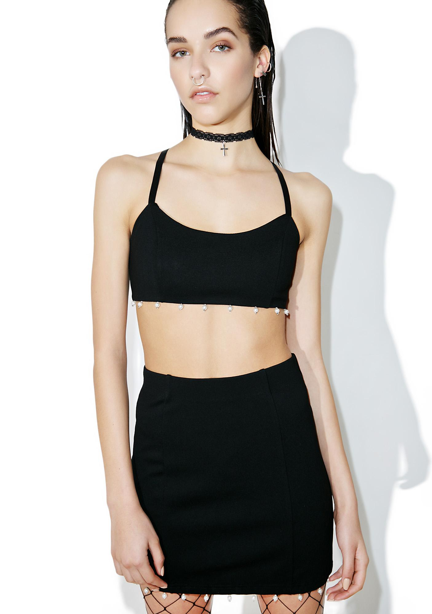 Mutha Of Pearl Crop Top