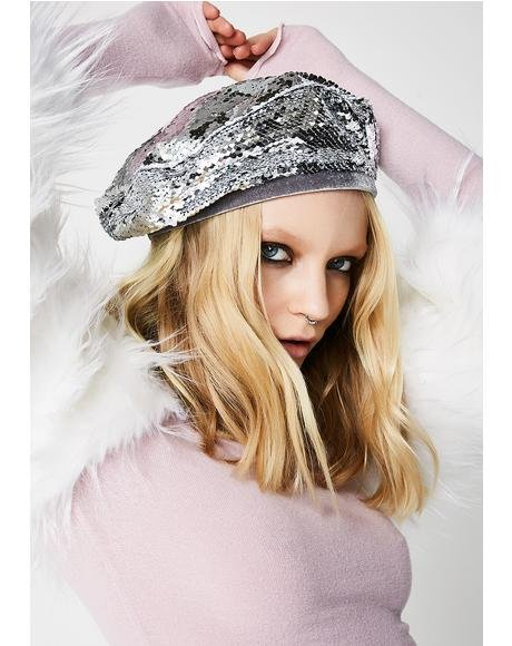 Endless Sequin Beret
