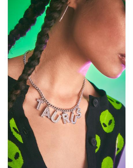 I Am Who I Am Rhinestone Necklace