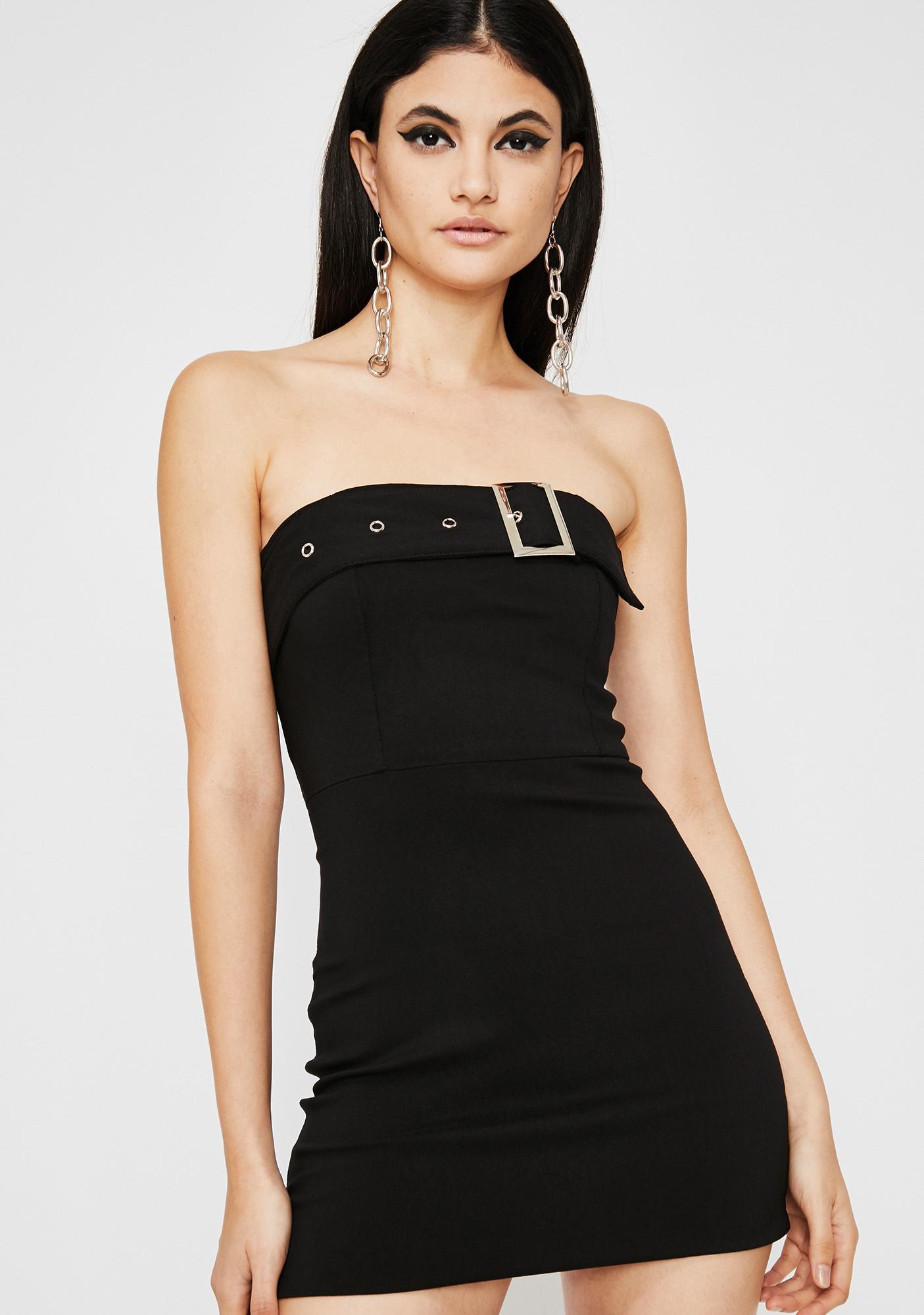 Bucklin' Down Mini Dress