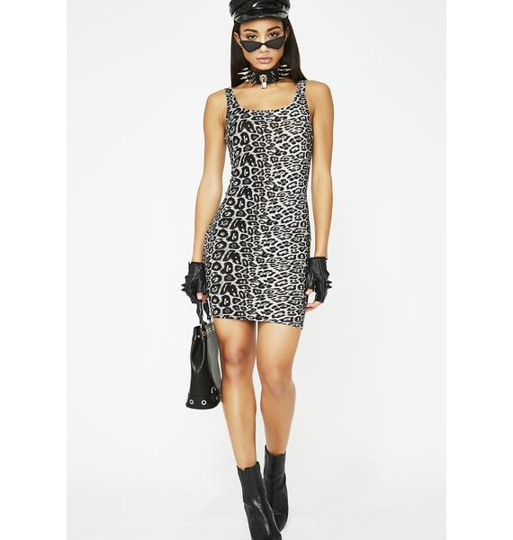 Drive 'Em Crazy Leopard Dress