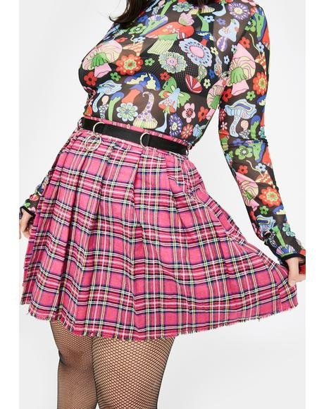 Pretty Sweet Dress Code Plaid Skirt
