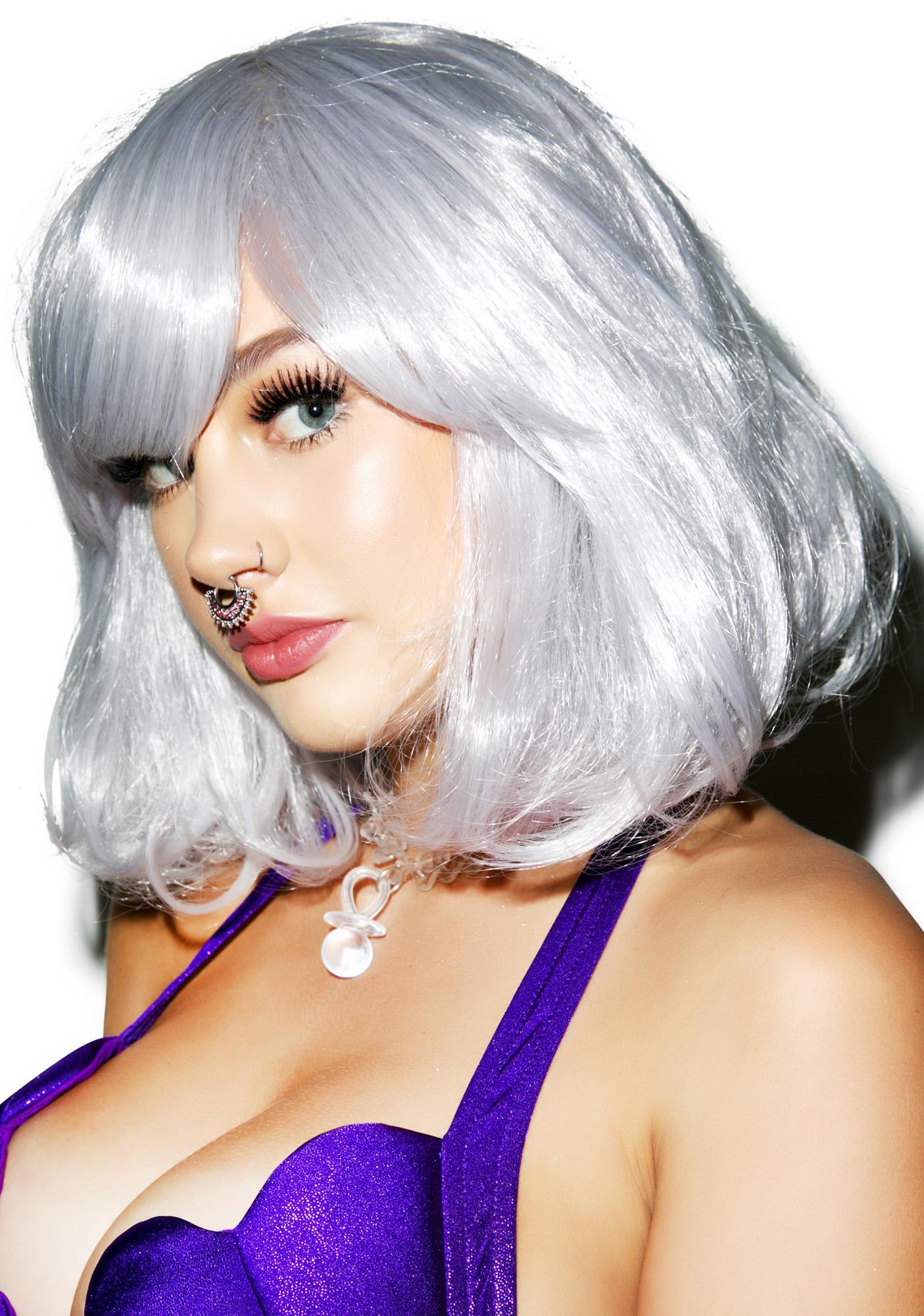 Silver Foxxx Wig