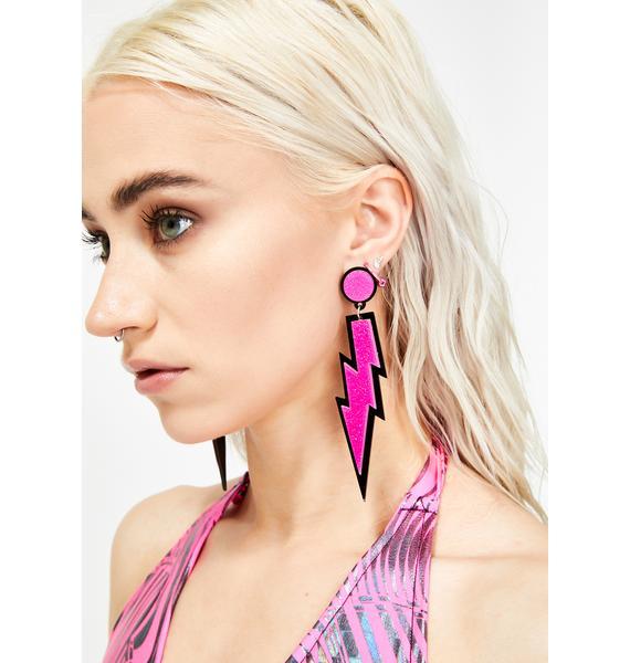 Sonic Shock Lightning Earrings