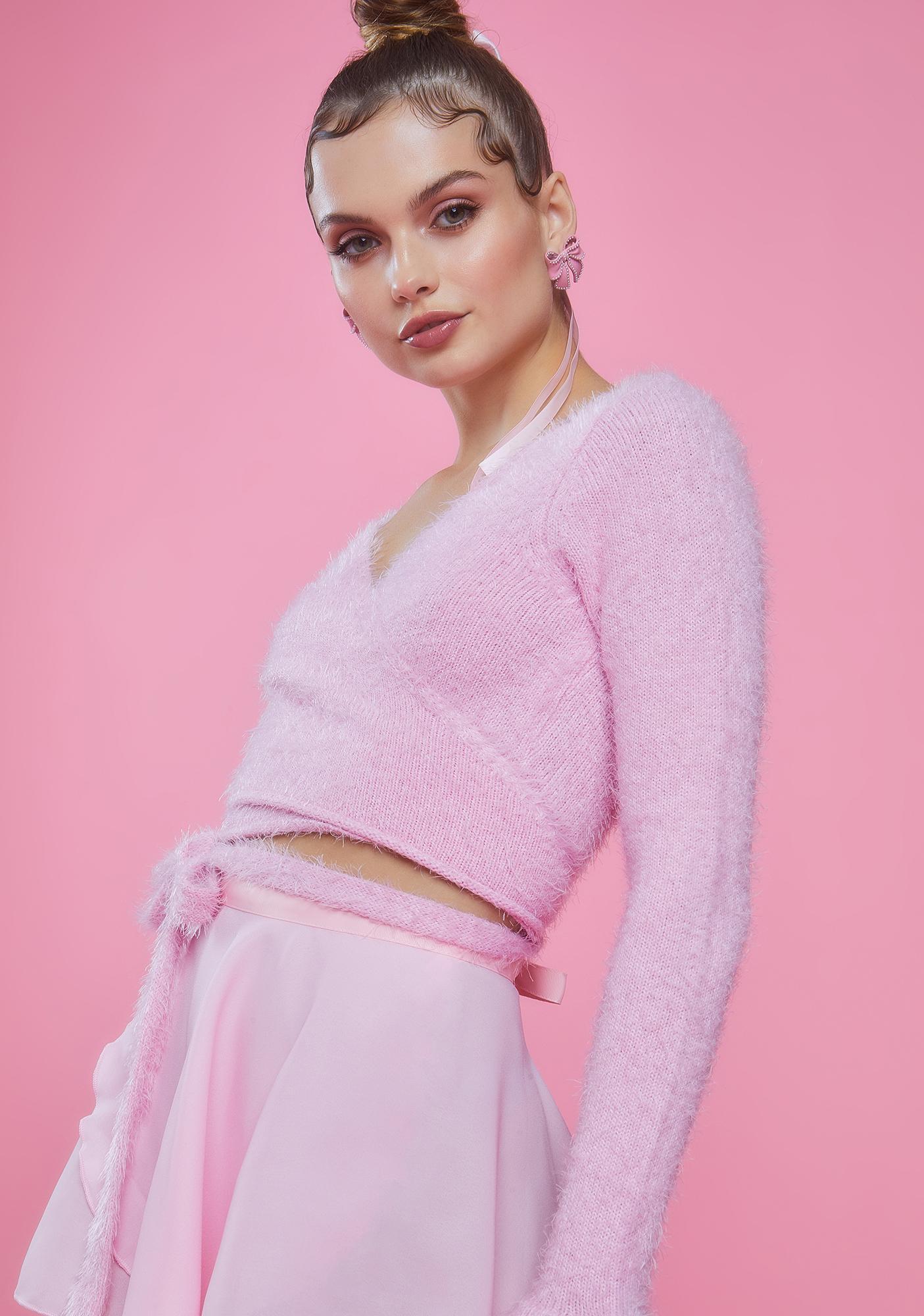 Sugar Thrillz Cherish My Love Wrap Sweater