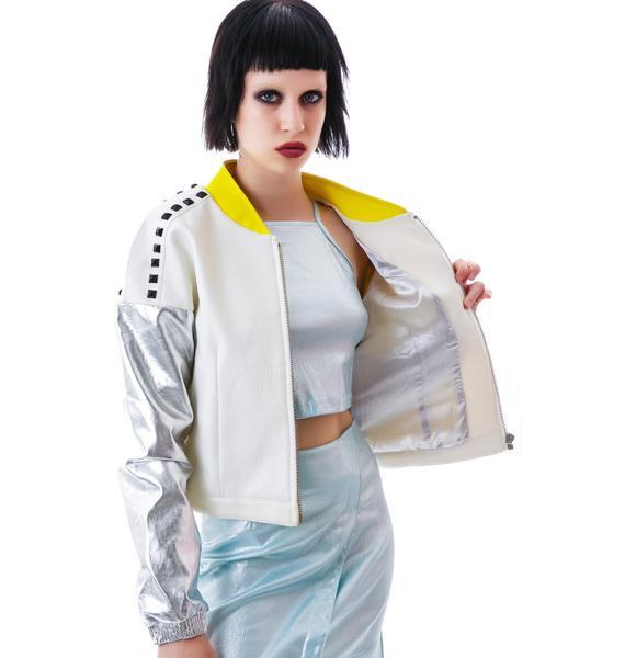 Foiled Plans Studded Jacket