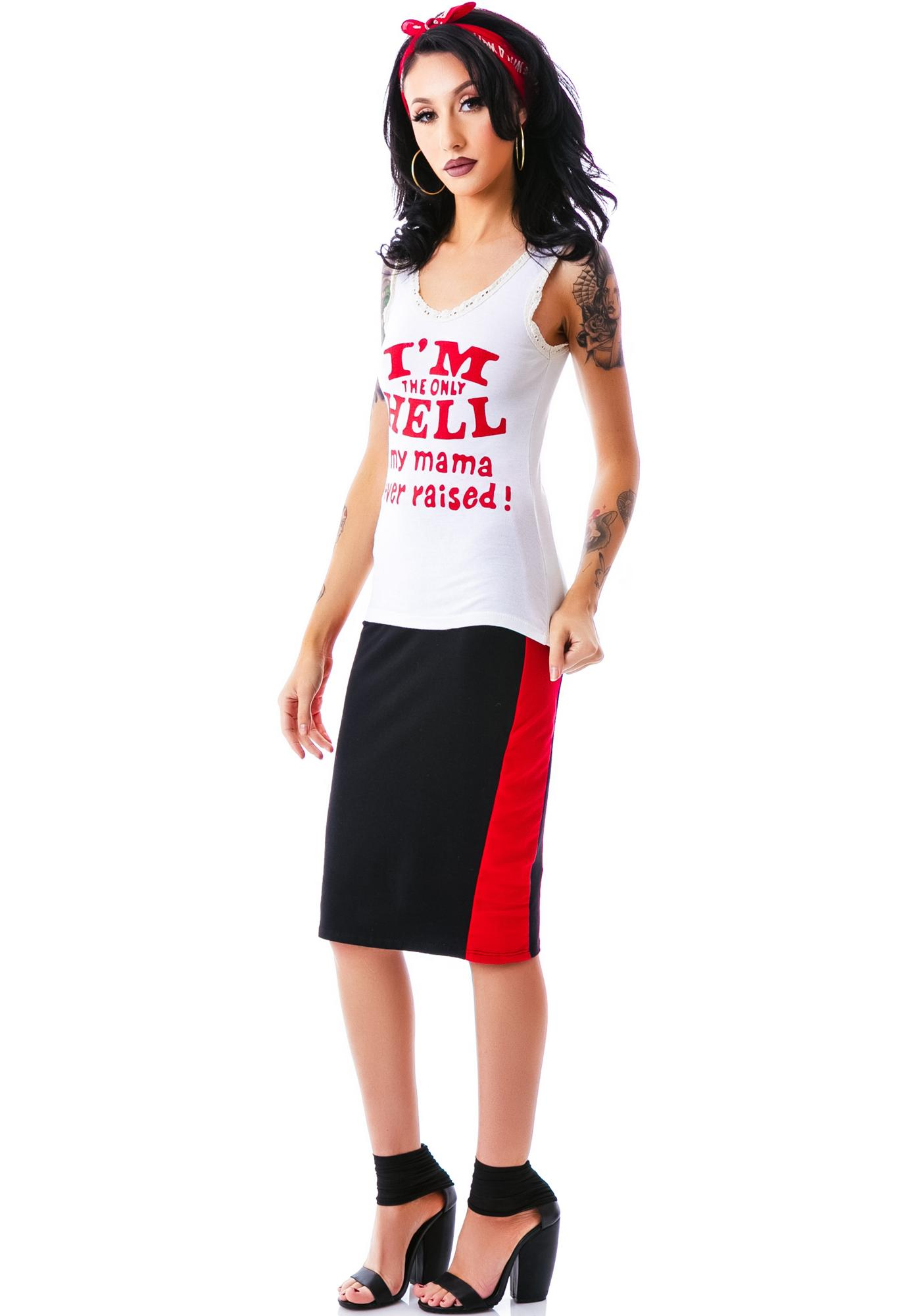 Bandit Brand I'm The Only Hell Lace Tank