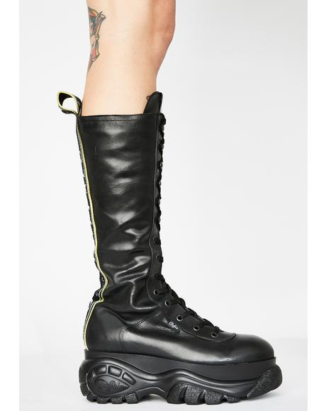 Gill Leather Knee High Platform Boots