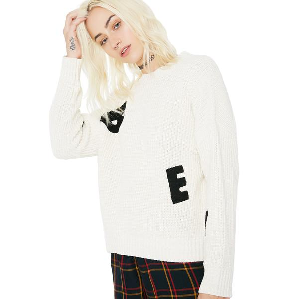 Obey Jumbled Sweater