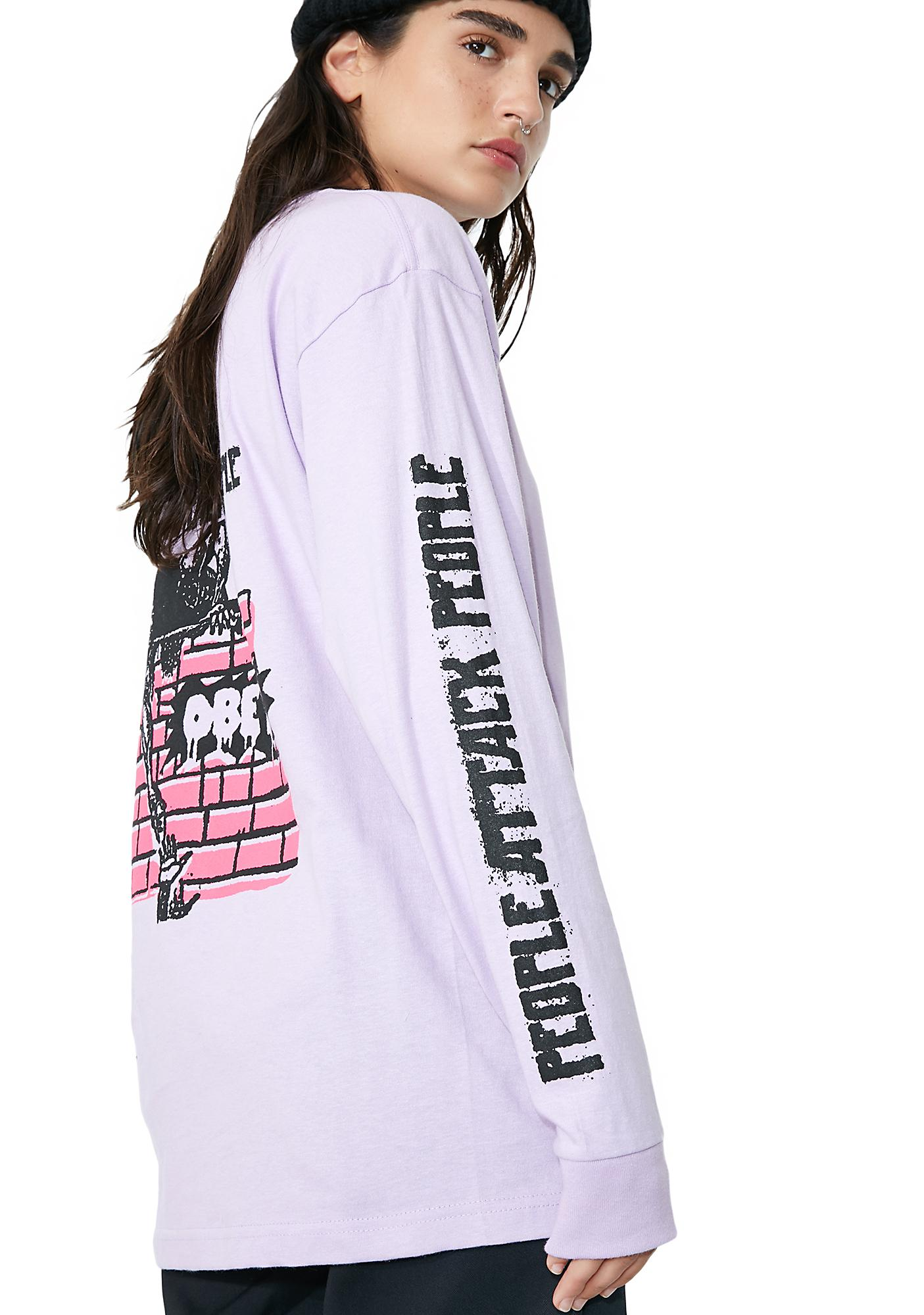 Obey People Attack People Long Sleeve