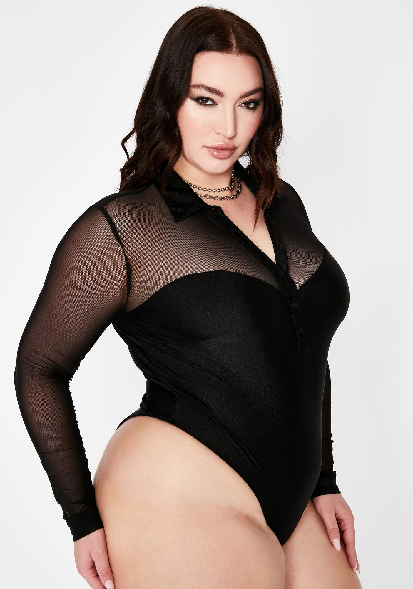 Dark Your Electrik Vixen Polo Bodysuit
