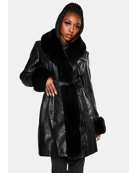 Gram Girl Faux Fur Wrap Coat