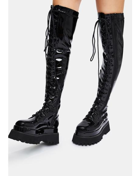 First Offender Knee High Boots