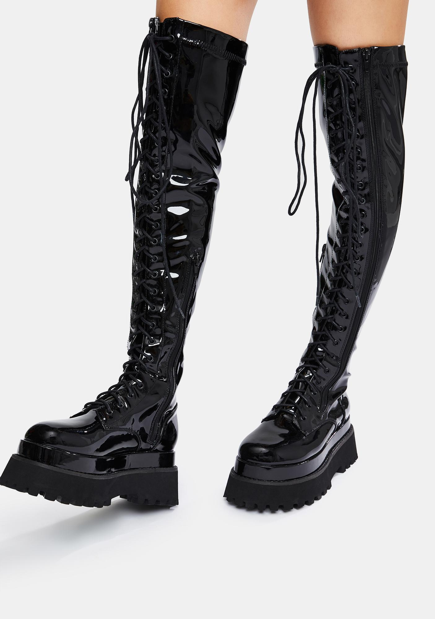 Current Mood First Offender Knee High Boots