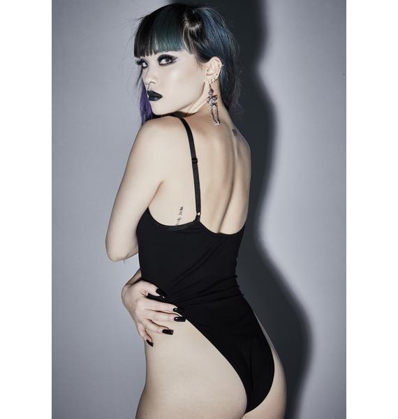 Widow Vicious Mischief Lace Up Bodysuit