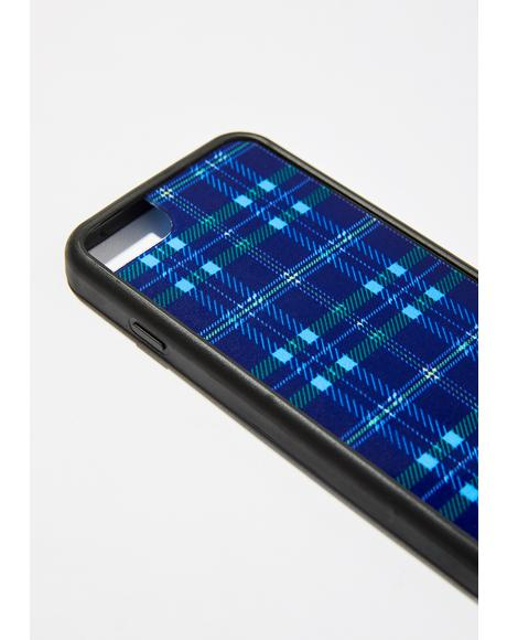Blue Plaid iPhone Case