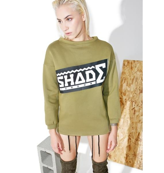 Shade London Logo Zipper Sweatshirt