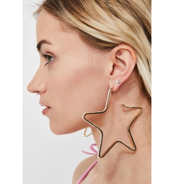 Twinkle Little Star Rhinestone Earrings