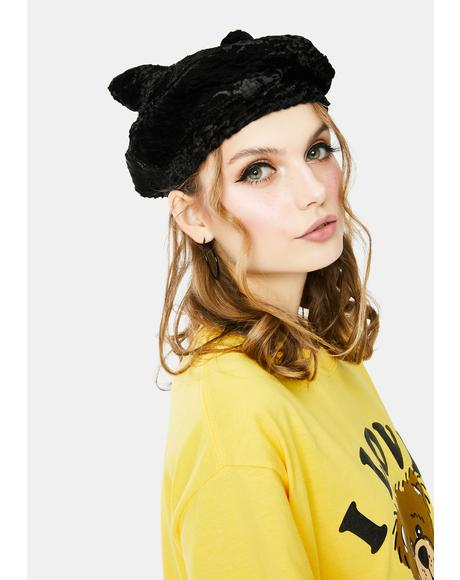 Purrfect Princess Sherpa Cat Ear Beret