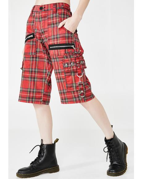 Plaid Punk Rock Shorts