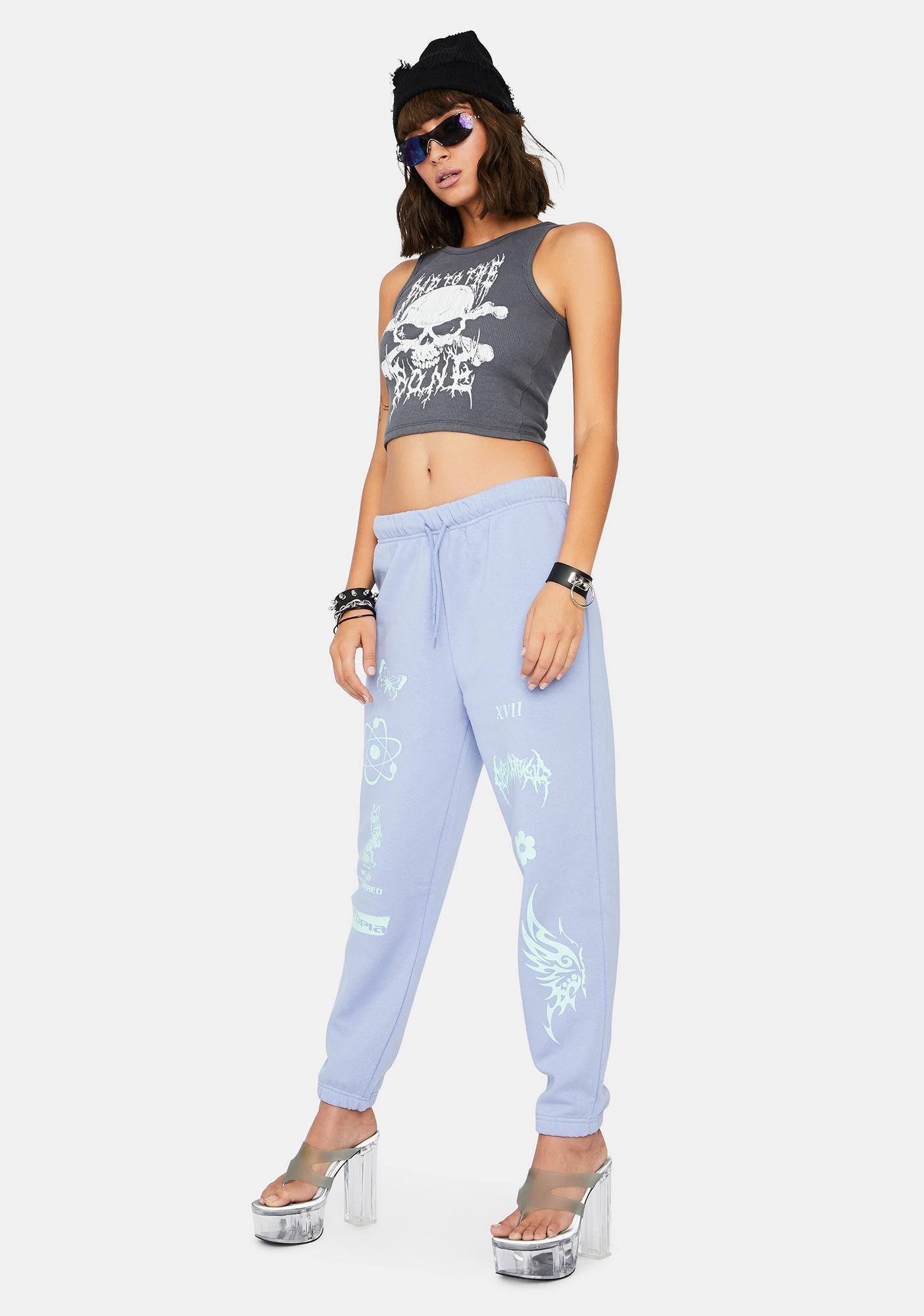 NEW GIRL ORDER Pale Blue Jogger Sweatpants
