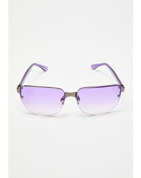 Purple Dream Clear Sunglasses