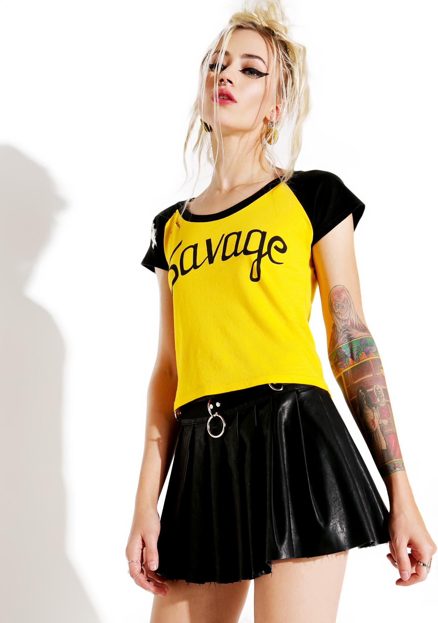 Current Mood Savage Cropped Raglan