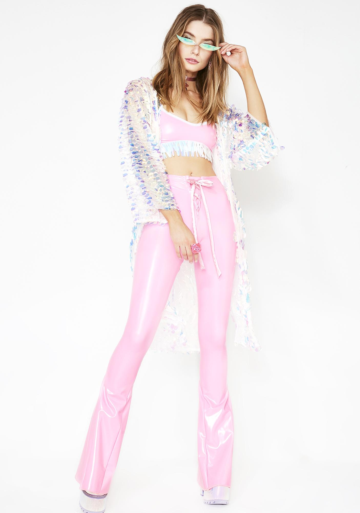 Sparkl Fairy Couture Iridescent Feather Top