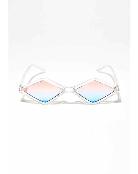 Diamond In The Ruff Two-Tone Sunglasses