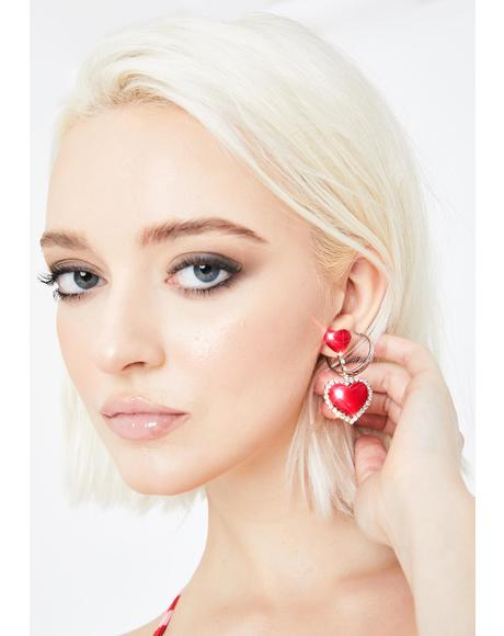 Angelic Affairs Heart Earrings