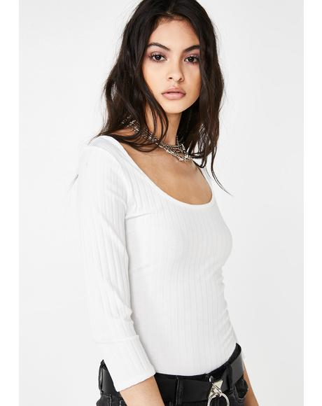 Weirdo Wave Ribbed Top