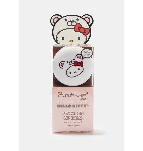 The Crème Shop Hello Kitty Macaron Lip Balm White Chocolate