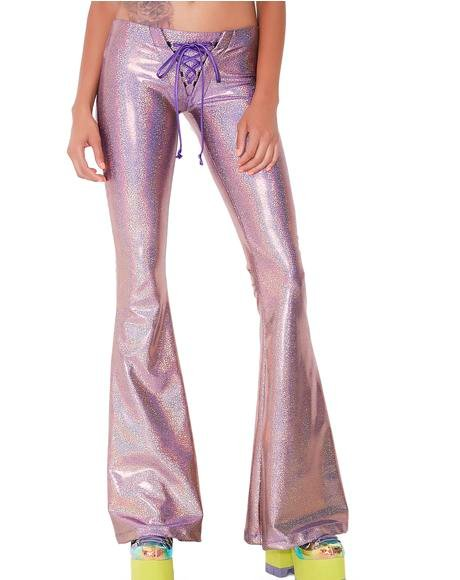 Rhiannon Lace-Up Bell Bottoms