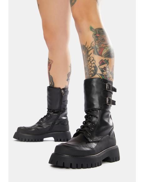 Night Wolf Combat Boots