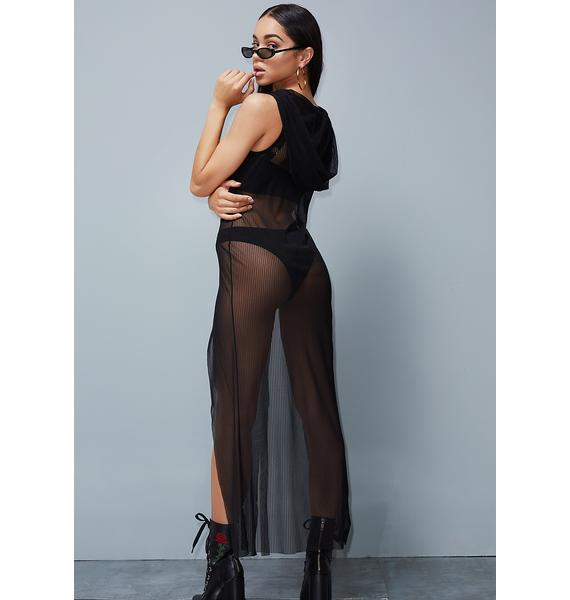 Poster Grl Own It Why Don't Ya? Mesh Maxi Dress