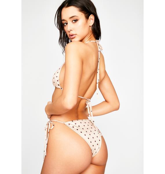 Luxe Splash Polka Dot Bikini Set