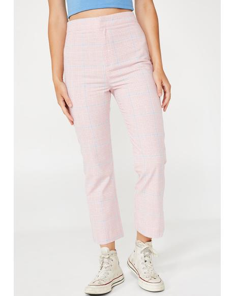 Charm Looker Plaid Trousers
