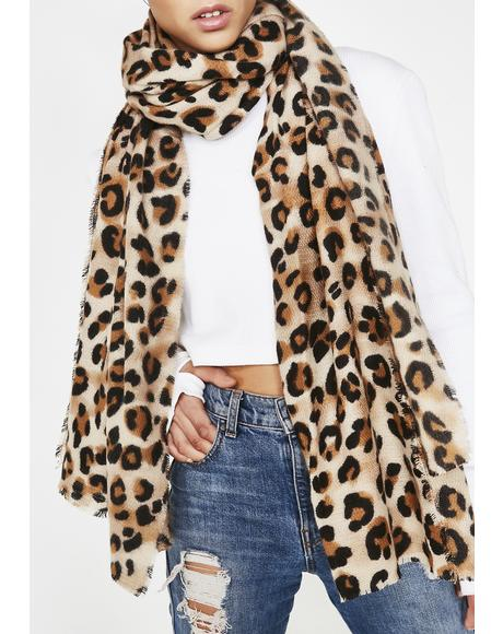 Cozy Cat Leopard Scarf