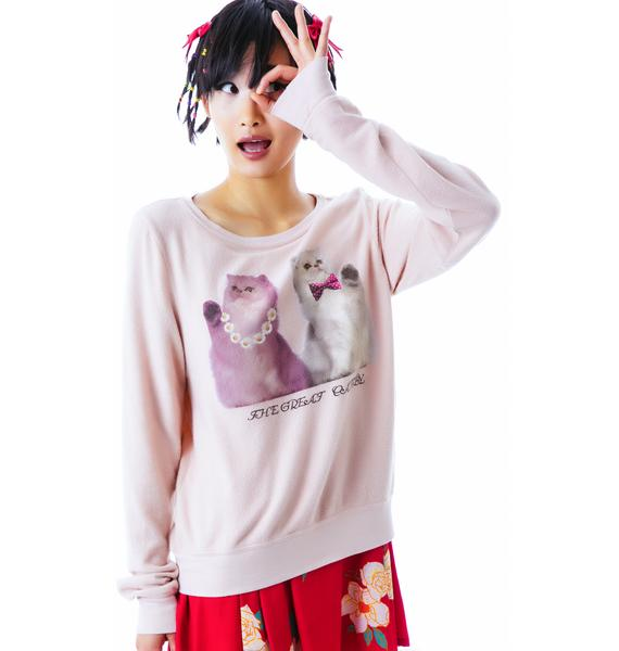 Wildfox Couture Catsby Baggy Beach Jumper