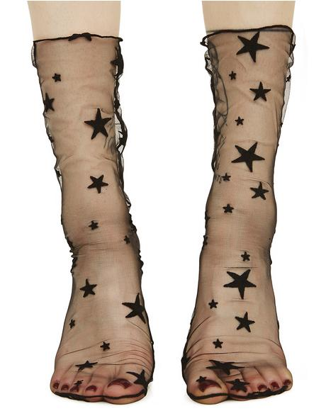 Star Light Sheer Socks