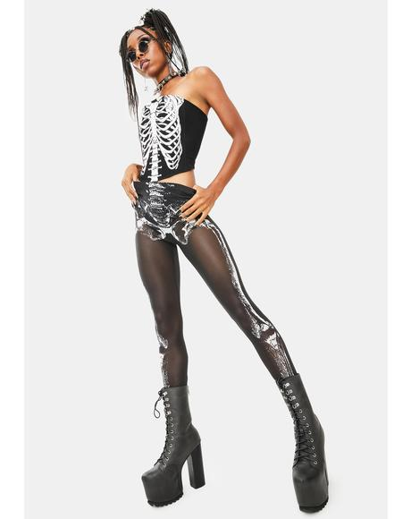 Skeletal Sass Mesh Leggings